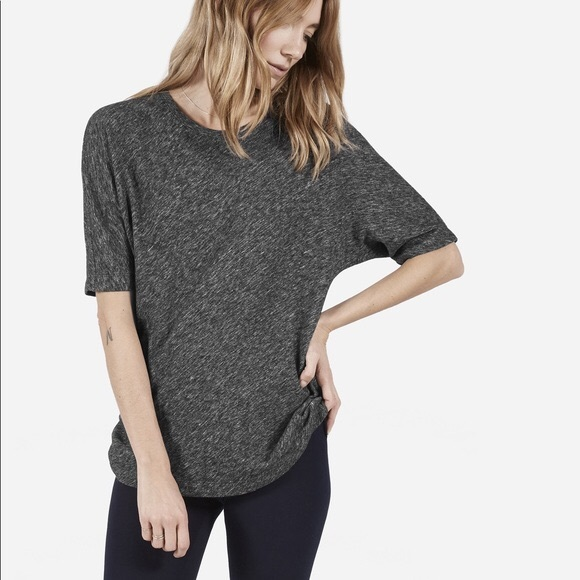 Everlane Tops - Everlane Grey Dolman Sweater Tee - Wool / Cotton